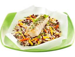 riz cuisiné papillote de colin riz cuisiné aux petits légumes surgelés 300 g