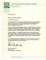 letter of recommendation medical director department of mental health