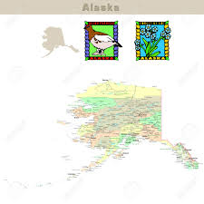 Alaska State Map by Usa States Series Alaska Political Map With Counties Roads