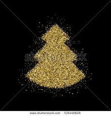 gold glitter tree happy stock vector 540044926
