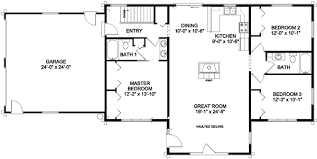 ranch house floor plan ranch style floor plans plan 46022hc craftsman home with master