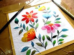simple flower painting with watercolor watercolor painting for