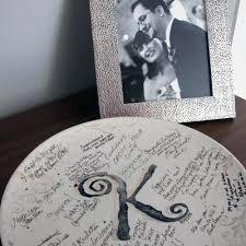 guest book platter personalized scrollwork wedding guest book platter