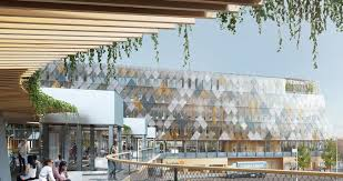 this train station which doubles as city hall in sweden will