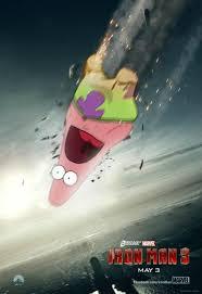 Surprised Patrick Memes - surprised patrick x iron man 3 poster spongebob squarepants