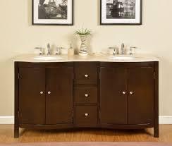 b1482 67 double sink vanity cream marfil marble top cabinet