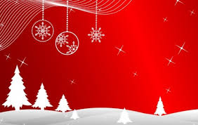 christmas background with white silhouettes vector free download