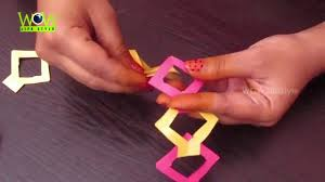 how to make diy paper chain without glue easy tutorial for kids