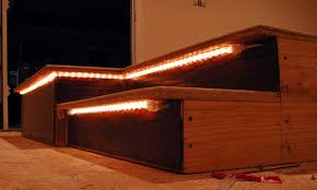 under stair lighting indoor outdoor stair lighting ideas