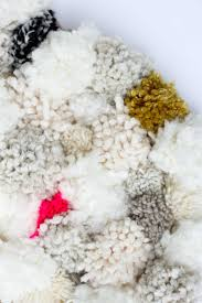 pom pom cuisine how to a diy pom pom rug do crew