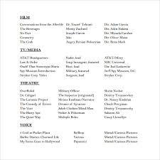 Acting Resume Maker Music Resume Formatacting Resume Template Theatre Acting Resume