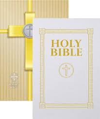 communion bible douay rheims communion bible white cover