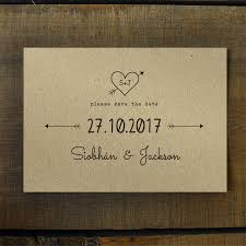 save the date cards heart and arrow kraft save the date card or magnet by feel