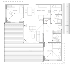 small house plan ch18 with straight lines and simple shapes small