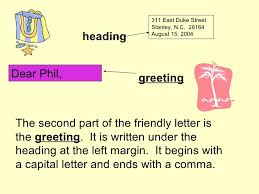 friendly letter slideshow