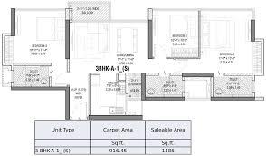 3 bhk tata serein at pokhran road no 2 thane floor plan