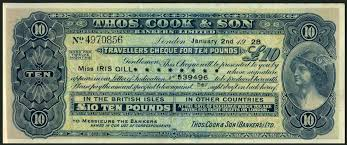 travellers check images Thomas cook son a book of issued but unused travellers cheques jpg