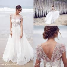 wedding tops 2016 cbell new sheer cap sleeves organza a line wedding