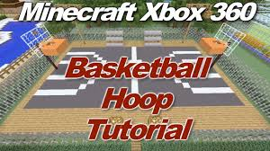 minecraft xbox 360 how to make a basketball hoop gameplay