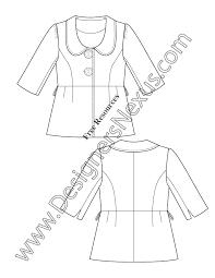 free downloads illustrator blazer flat sketches