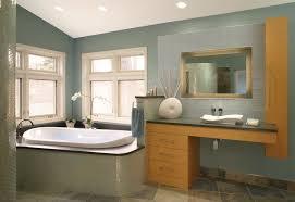 green blue paint bathroom contemporary with slate floor tile