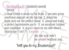 Bridesmaid Card Wording Style U0026 Elegance Kitchener Waterloo Wedding And Event Planning And