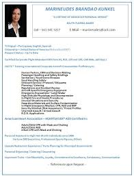Resume For Flight Attendant Job by Corporate Flight Attendants Exclusive List