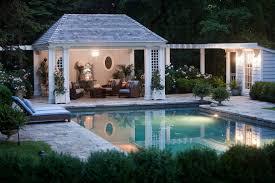 Backyard Cabana Ideas Pool Cabana Ideas Pool Traditional With Hanging Lantern Lattice