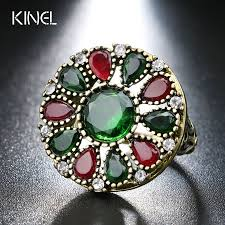 jewelry large rings images Turkey stones flower large rings best personality jewelry club jpg