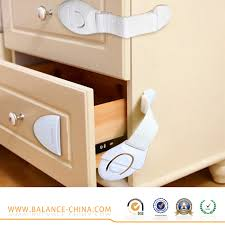 full white cabinet safety locks plastic locks with strap baby