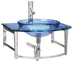 wall mount glass sink 44 blue bathroom sinks azure blue flared glass vessel sink bathroom