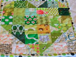 Modern Green Rugs by Houston Modern Quilt Guild February Modern Mug Rug Swap