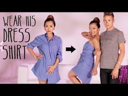 wear his dress shirt tutorial youtube