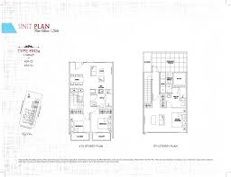 Row House Floor Plans Row House 3 Bed Ph Sant Ritz