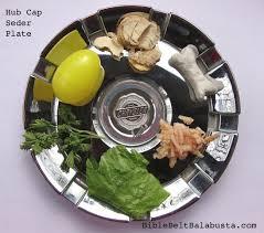 passover plate foods hub cap seder plate bible belt balabusta