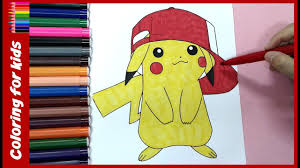 pokemon coloring pages pikachu colouring tutorial video from