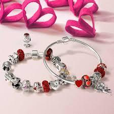 red charm bracelet images Silver shamballa inspired red swarovski crystal bead fits pandora jpg