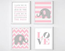 Pink And Gray Nursery Decor Pink Gray Nursery Etsy