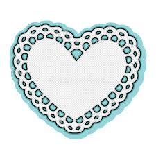 heart doily white heart doily frame stock vector illustration of