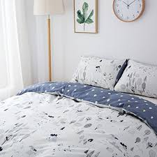 clothknow cotton duvet cover sets queen white forest pattern u2013 3