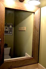 Wood Mirrors Bathroom Improbable Wooden Bathroom Mirror Ideas Bathroom Mirror Frames