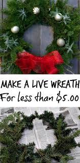 live christmas wreaths how to make a live christmas wreath