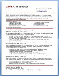 Substitute Teacher Resume Examples by Resume Template For Teachers Teacher Resume Template For Ms Word