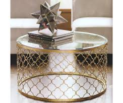 small metal end table furniture coffee table awesome small glass white gold round metal