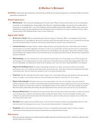 Sahm Resume Sample by Resume After Stay At Home Mom Free Resume Example And Writing