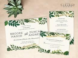 digital wedding invitations digital wedding invitation set printable botanical wedding