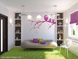 Wallpaper Design Home Decoration Girls U0027 Bedroom Style Shag Carpet Grasses And Owl