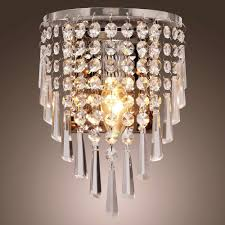 Crystal Wall Sconce by New Crystal Droplets Chrome Single Wall Light Sconce Lighting
