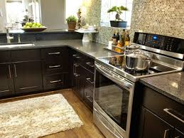 Stainless Steel Handles For Kitchen Cabinets by Amazing Black Color Kitchen Cabinets Featuring Black Acrylic