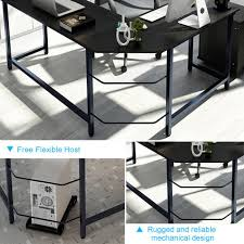tribesigns modern l shaped desk corner computer desk pc latop